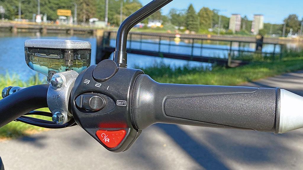 Begrenzungsschalter für die V-max - Super Soco TC Max - Modell 2020