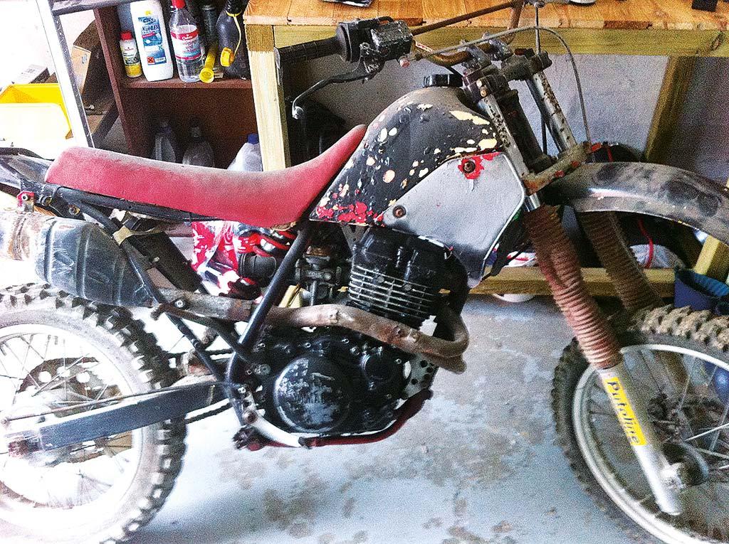 Bedauernswerte Basis - unrestaurierte Yamaha TT 350