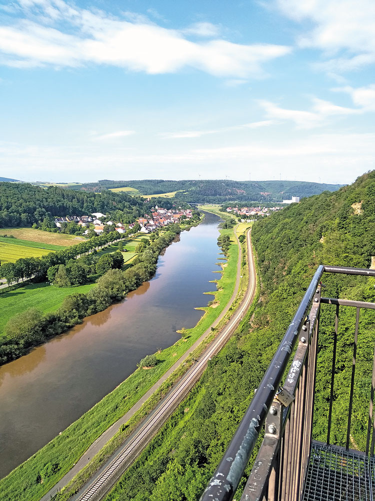 Der Skywalk an der Weser