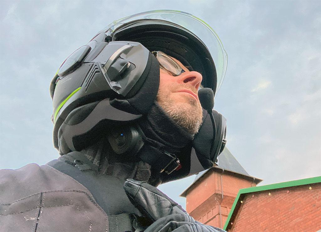 Eine sichere Bedienung des Linkin RidePal III mit Handschuhen ist quasi nicht möglich