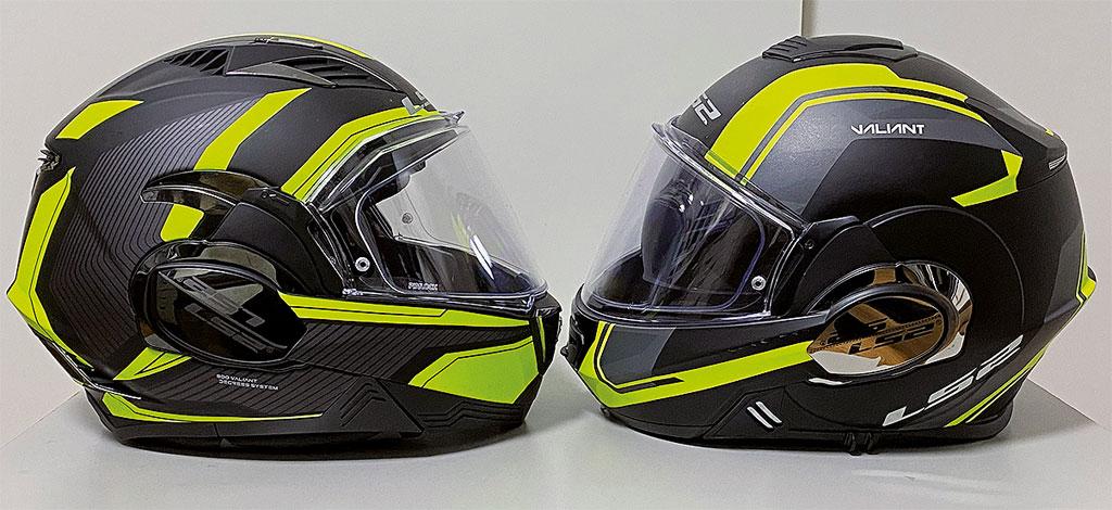 LS2 FF900 Valiant II vs. FF399 Valiant I (rechts)