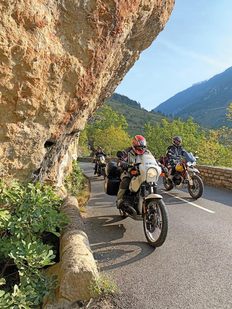 Motorradfahren in Südfrankreich