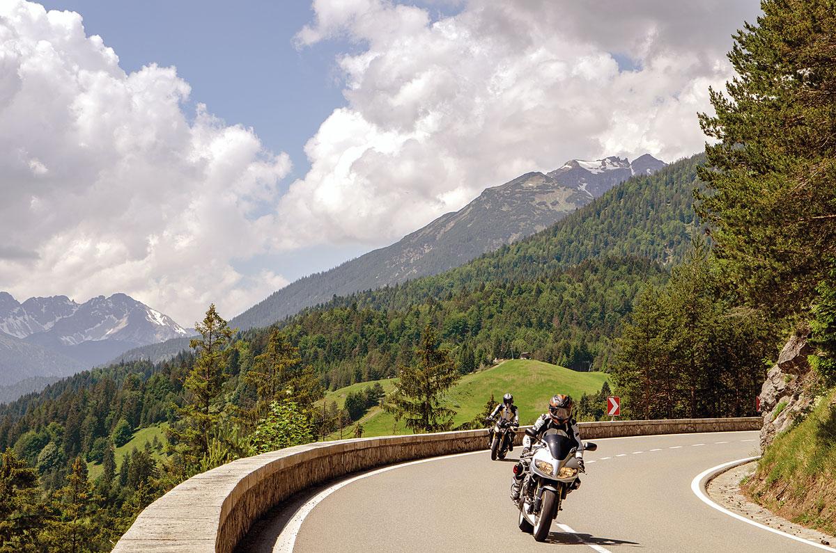 Motorradtour Deutscher Alpenrand - Der Gaichtpass verbindet das Lechtal mit dem Haldensee