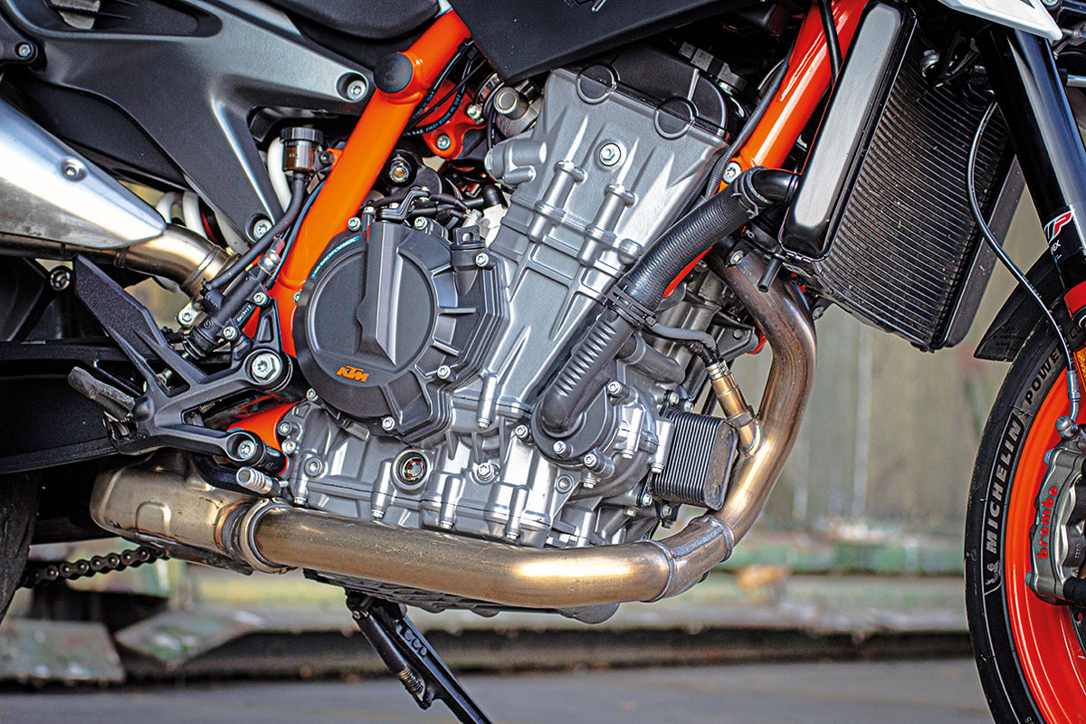Motor der KTM 890 Duke R, Modell 2020