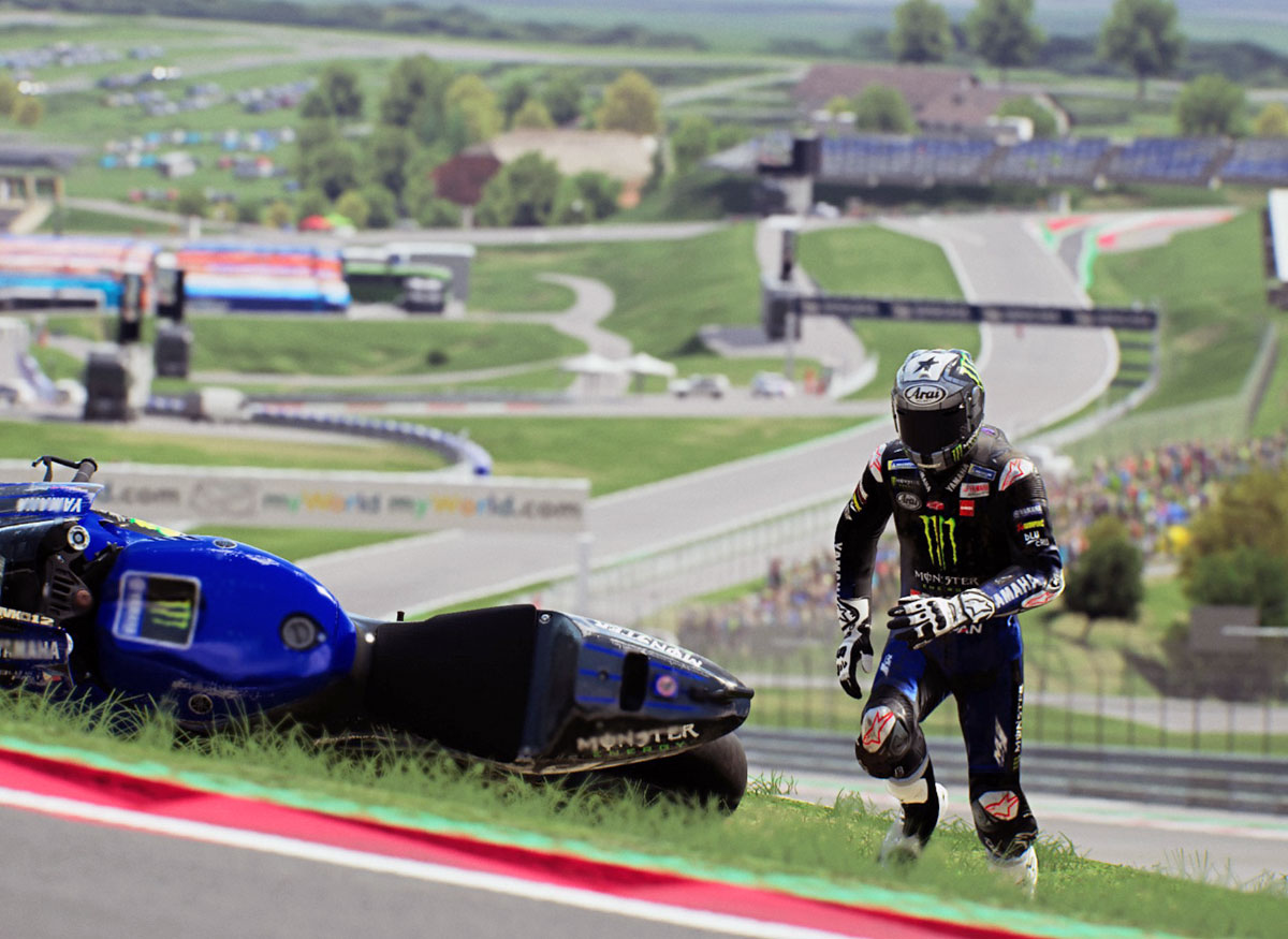 MotoGP21 - Schnell zur Maschine, aufheben nach dem Sturz (Bike Retrieval)