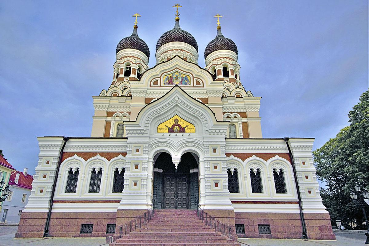 Russisch-Ortodoxe Kirche in der Tallinner Altstadt - Motorradreise ins Baltikum