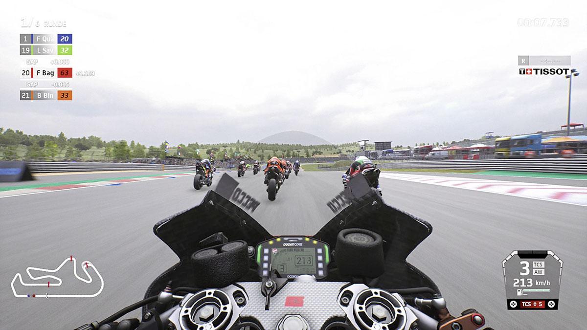 MotoGP21 - Onboard Screenshot auf der PS4