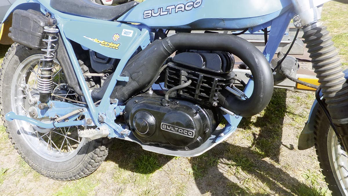 Frisch überholter Motor - Classic Trial mit Bultaco T 350