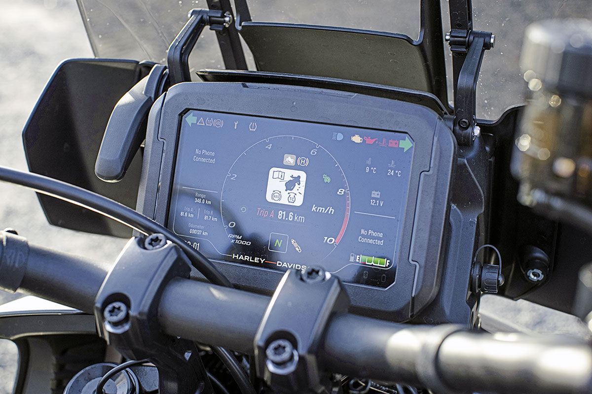 TFT-Display der Harley-Davidson Pan America