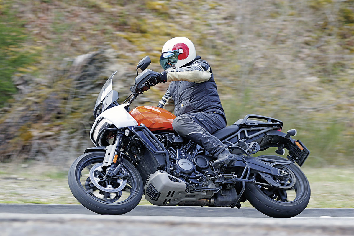 Harley-Davidson Pan America auf der Landstraße