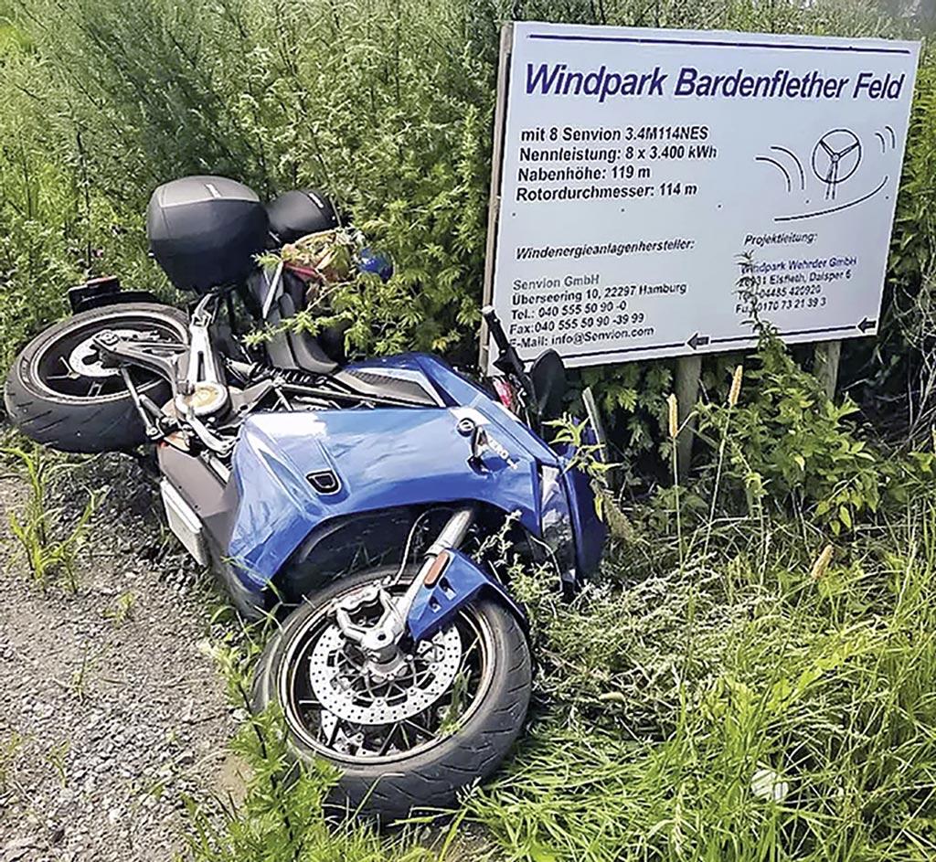 Umgefallen - kann mit jedem Motorrad passieren