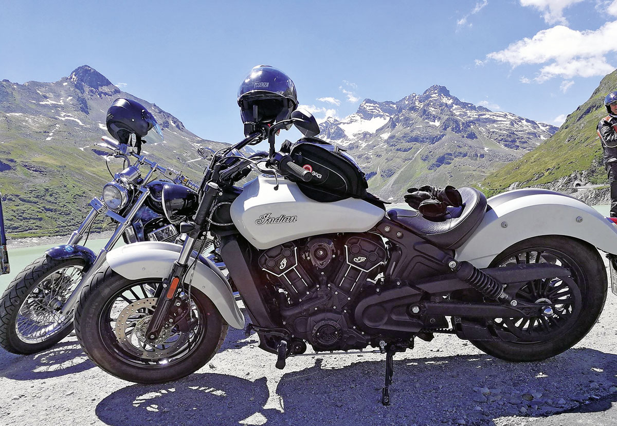 Alpentour - Indian Scout Sixty - 50.000 km Erfahrung