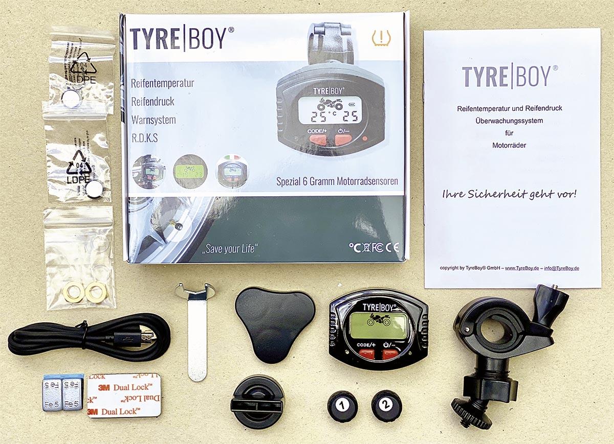 Lieferumfang Tyre Boy Reifendruckkontrollsystem
