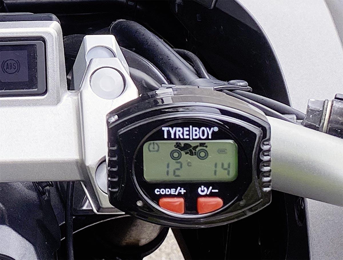 Wahlweise Temperaturanzeige - Tyre Boy Reifendruckkontrollsystem