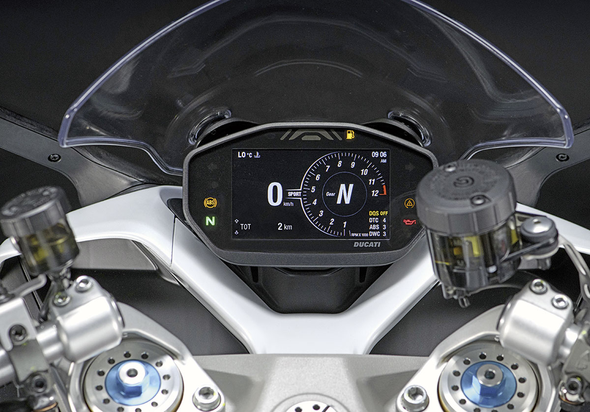 TFT-Display Ducati Supersport 950 S, Modell 2021