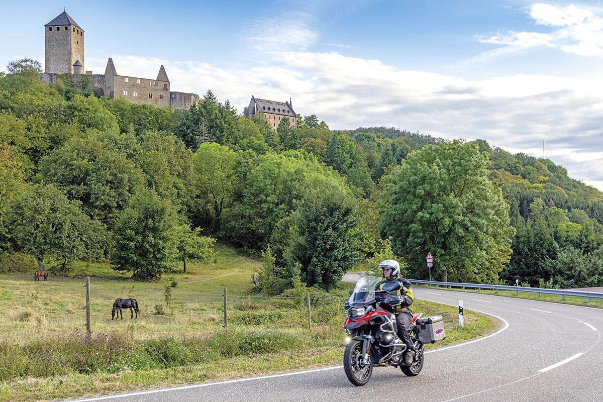 Motorradtour Saar-Nahe-Bergland - Burg Lichtenstein