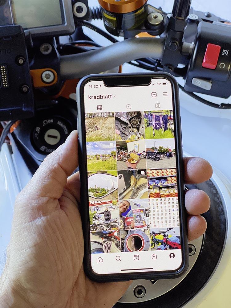 Auch Instagram kann warten - Digitale Freiheit beim Motorradfahren