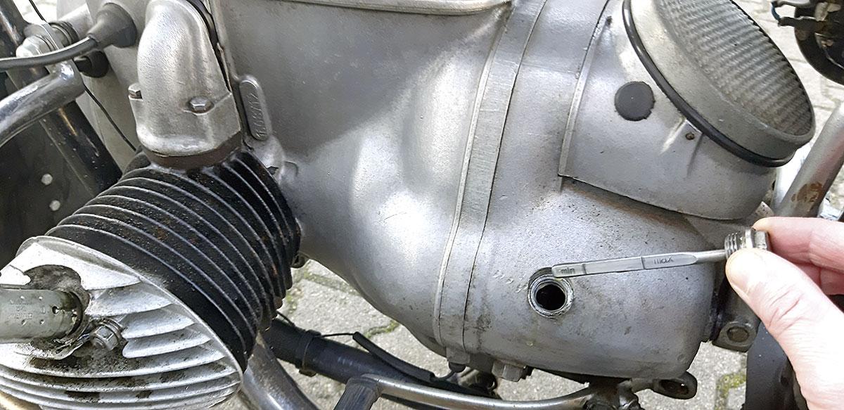 IFA MZ BK 350 - Peilstab für Getriebeöl