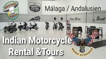 Indian, Motorcycle, Malaga, Andalusien, Mieten, Tourguides, Wildwest Motorradreisen